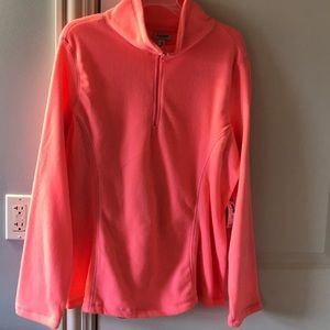 NWT. Fleece quarter zip jacket